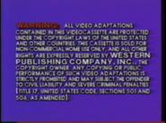 Golden Books Video Warning Screen (1985, Blue Background Variant)