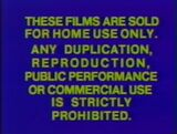 Sony Pictures Home Entertainment Warning Screens