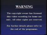 Third CIC Video warning screen