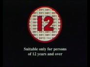 BBFC 12 Card (1991)