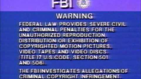 Blue FBI Warning
