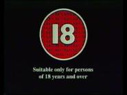 BBFC 18 Card (1991)
