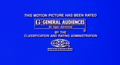 MPAA G Rating Card (Charlotte's Web 2 Widescreen)