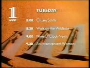 BBC1 PROMO SCHEDULE CARD