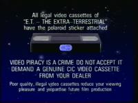 CIC Video Piracy Warning (1988)