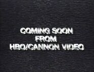 Also Available from HBO Cannon Video Bumper