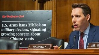 Sen. Hawley announces new legislation to ban TikTok from all federal employees, on all gov devices