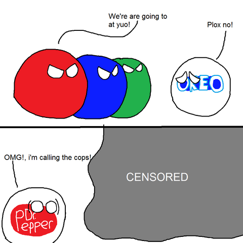 Telefe fights and eats Oreo