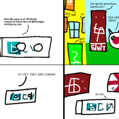 Remake version of First BNTtangle comic