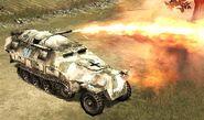 Flammpanzerwagen fire the flamethrower