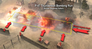 Tactic Bombing Run Rocket Dispersal