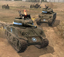 Featured Article Image about A pair of Sherman tanks