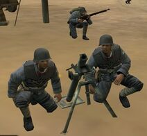 Chinese mortar Squad