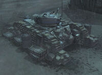 Unit Stuart Light Tank Hull Down
