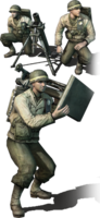 Allies mortar team