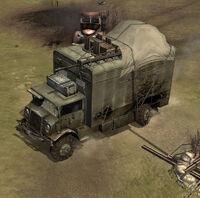 Unit HQ Command Truck Mobile Damaged