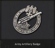 Army Artillery Badge