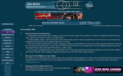 Old sim news page screenshot