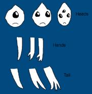 Humanoid parts