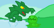 Crocotolopod attacking a Crawla