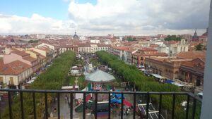 Plaza Cervantes desde Torre de Santa María-Mercado Cervantino
