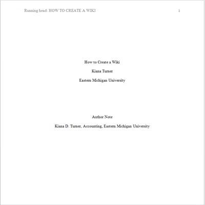 reference page apa