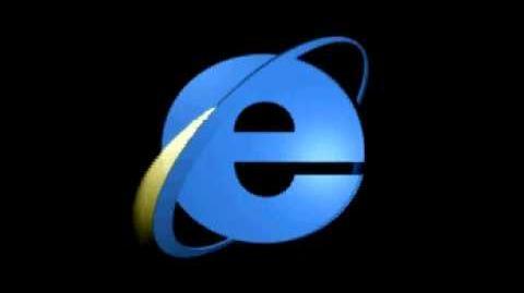 Internet Explorer 3 Classic Throbber Animation with Sound