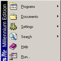 The Start Menu in Windows ME