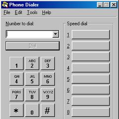 Phone dialer in Windows 98