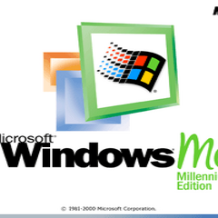 The booting screen of Windows ME