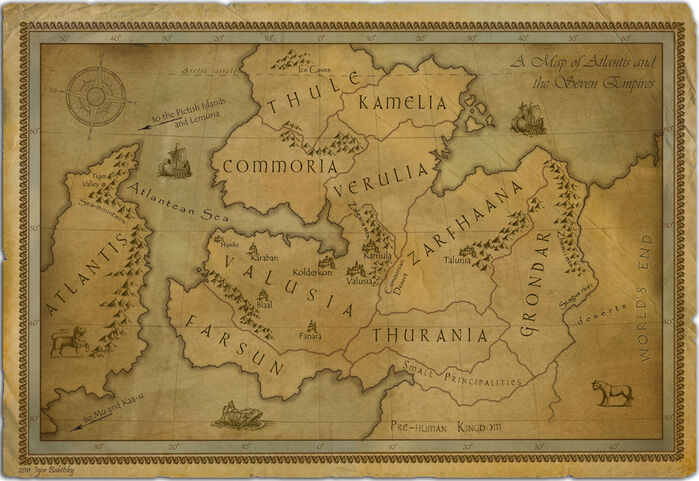 Map of the Thurian Age (The Time of Kull, Before The Sinking of Atlantis (large)