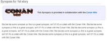 Conan wiki collab mockup
