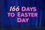 166 Dayst to Easter Day 1
