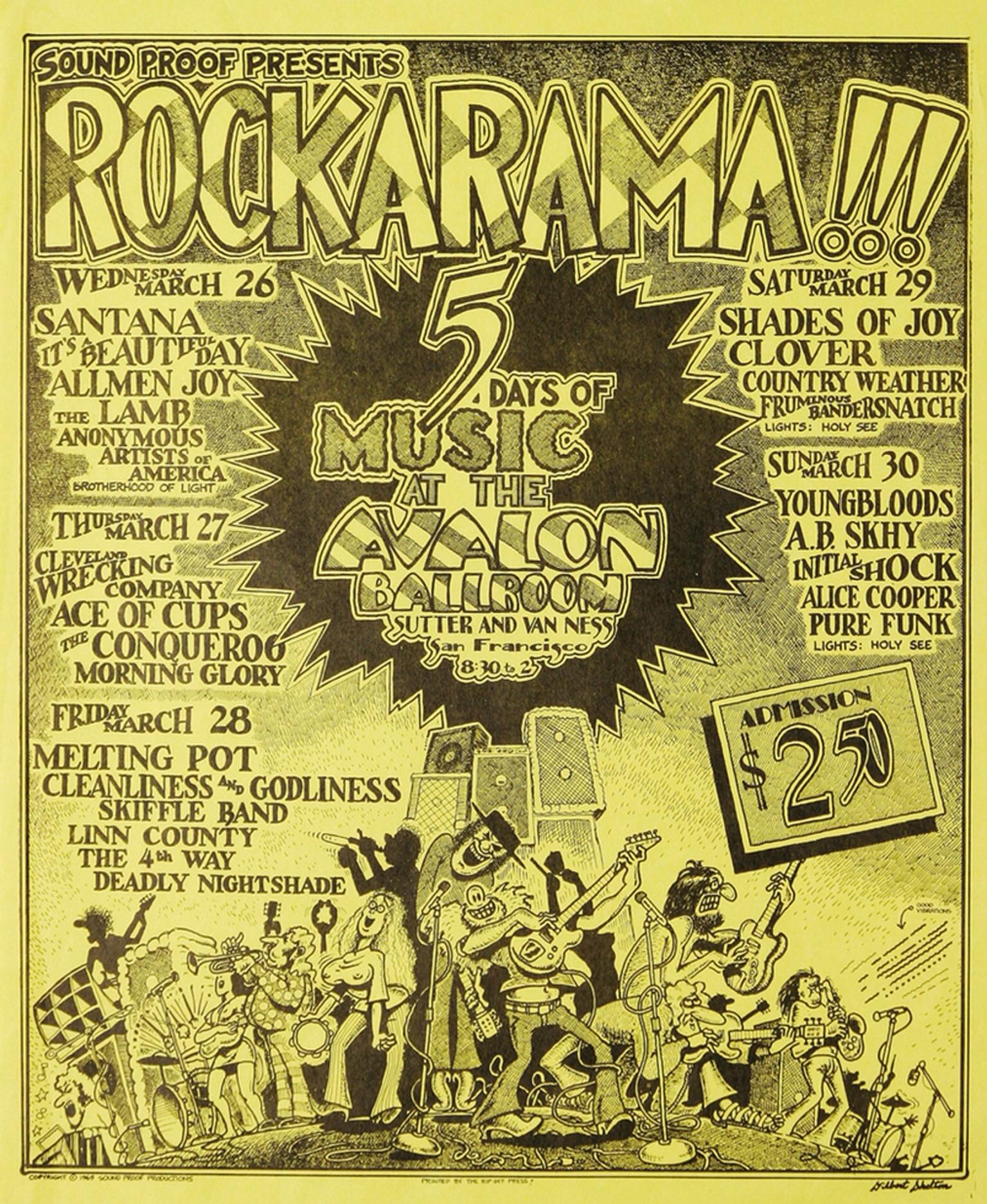 March 30, 1969 Avalon Ballroom, San Francisco, CA | Concerts