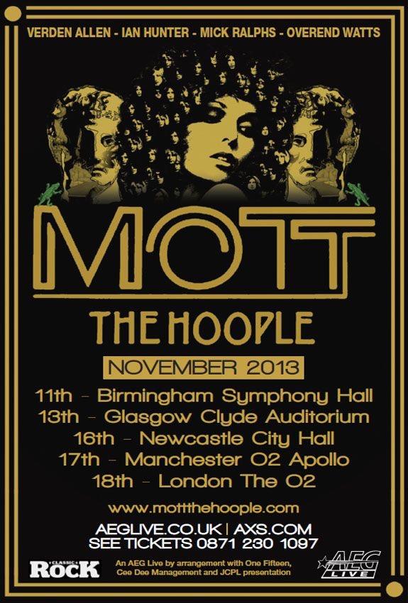 Mott The Hoople UK Tour 2013   Concerts Wiki   FANDOM