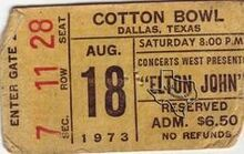 August 18 1973 Cotton Bowl Dallas TX