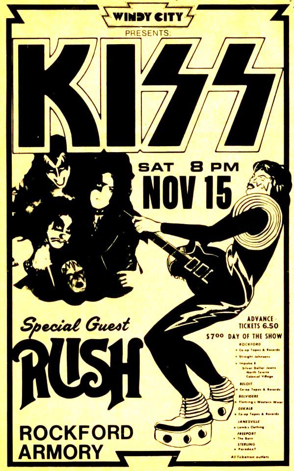 November 15 1975 Rockford Armory Rockford Il Concerts