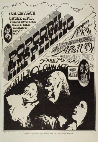 The Doors Concert Poster Canvas Art Print 1967 Matrix Ballroom San Francisco