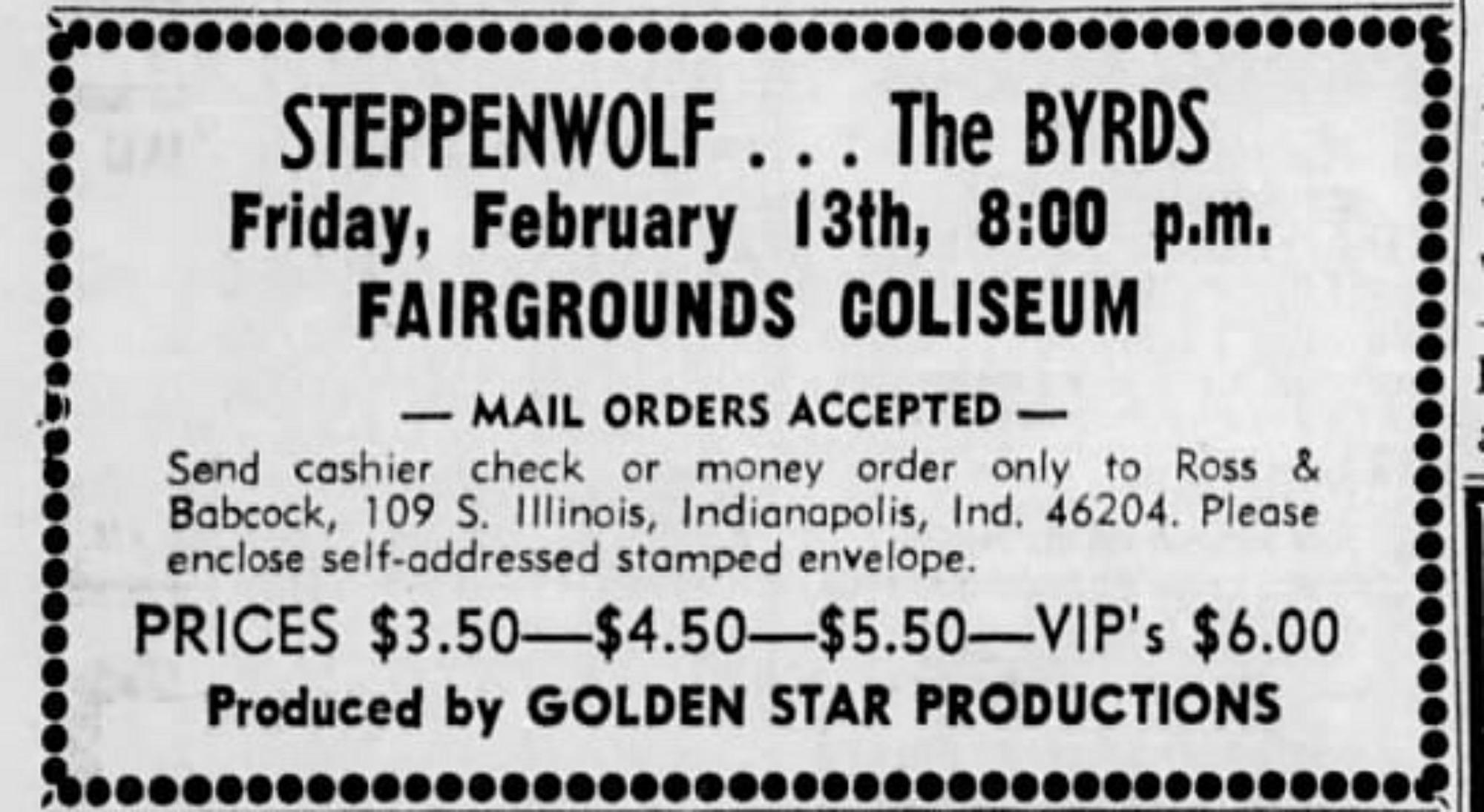 February 13, 1970 Indiana State Fair Coliseum, Indianapolis