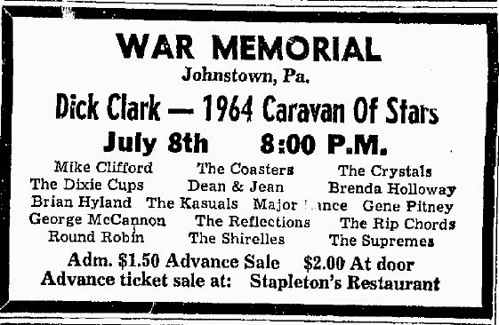 July 8 1964 War Memorial Auditorium Johnstown Pa Concerts Wiki