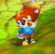 Conker plays ball