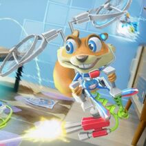 Young Conker Artwork Flying