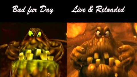 Conker's Bad Fur Day vs Live and Reloaded The Great Mighty Poo
