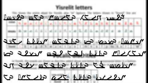 Conlang samples - Yisrelit