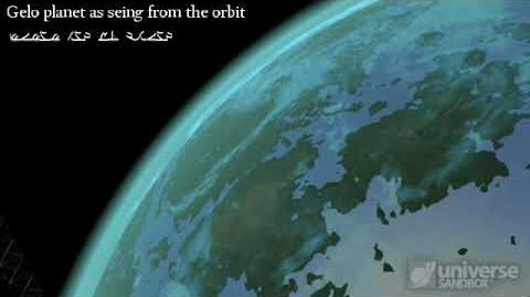 Gelo planet as seen from the orbit