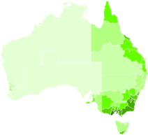 Australian Language Distribution Map
