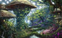 Mushroom city concept by lewa94-d5vmcb2