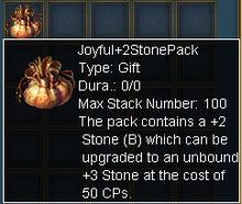 +2 stone pack