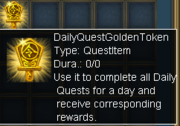 Daily Quest Golden Token