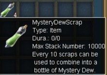 Mystery dew scrap